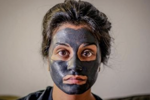 person with a face mask