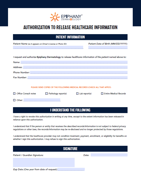 release-of-healthcare-info-epiphany